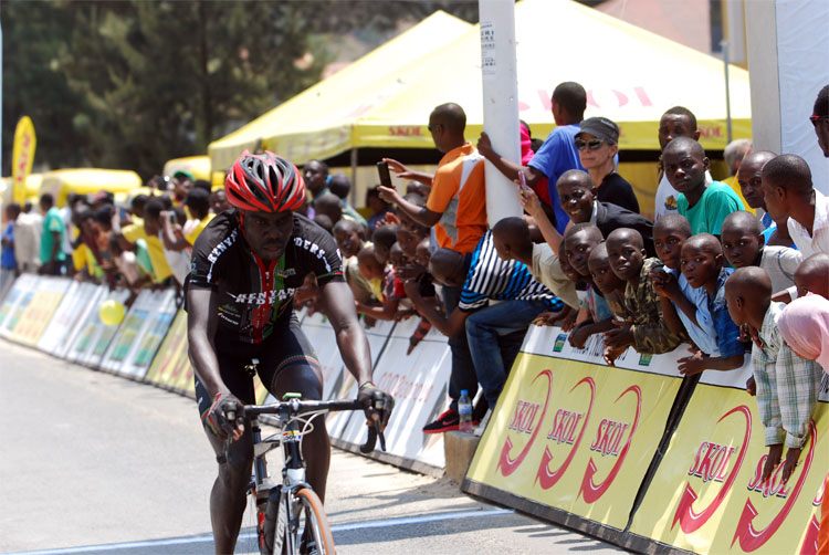 One of five Kenyan riders at Western Circuit