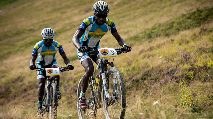 Byukusenge Nathan and Ruhumuriza Abraham competing in Swiss Epic, last year